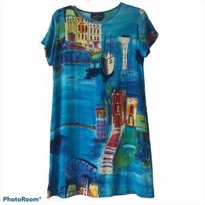 Carole Little Sport Petites European Print Dress